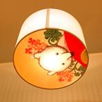 高島屋 大阪店6F こどもフロア 授乳室の 照明のイラストや絵を飾っていただいてます。