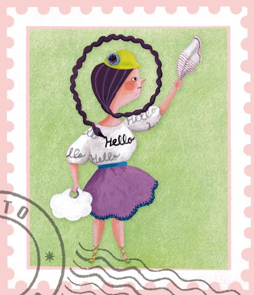 切手hello1